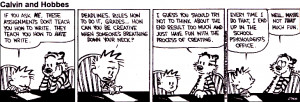 funny quotes about writing and english class | Calvin and Hobbes comic ...