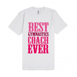 Description: Cute gymnastics coach saying quote text design in pink ...