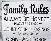 ... sign, word art family sign, large wall art, bible verse, christian art