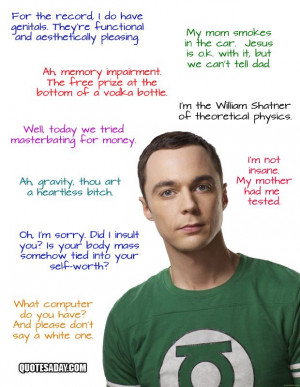 Favorite Sheldon quote: