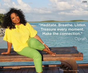 Self-help quotes on Facebook? Oprah OWNs it!