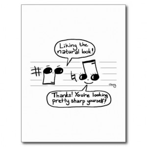 Musical Humour Cartoon Postcard