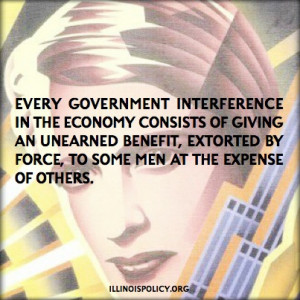 government interference in the economy consists of giving an unearned ...