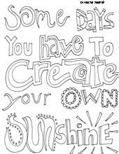 One of many quote coloring sheets available on this website. Great for ...