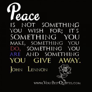 Peace quotes john lennon quotes