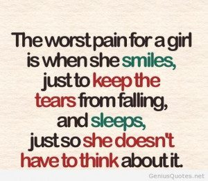 Comments Off on The worst pain of a girl