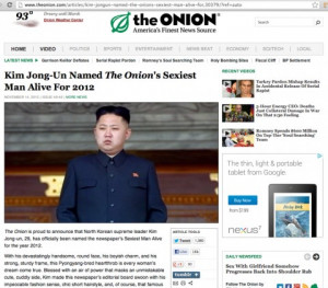 Here's the Onion article on Kim Jong Eun that fooled China's state ...