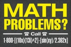 Math problems-funny sign