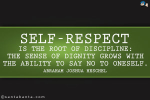 Self Respect Is The Root Of Discipline The Sense Of Dignity Grows With ...