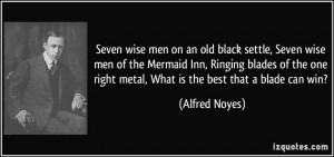 Seven wise men on an old black settle, Seven wise men of the Mermaid ...