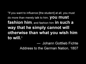Gottlieb Fichte's Opinion of the Prussian Education System