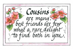 Cousins Are Connected Heart...