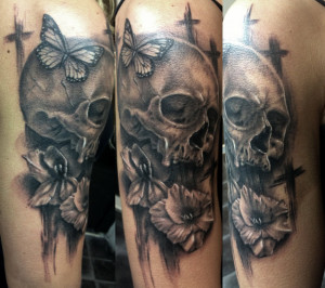Tattoo Ideas Quotes On Death Heaven Mourning Skull Tattoo Designs ...