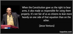 When the Constitution gave us the right to bear arms, it also made us ...
