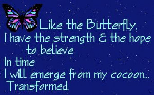 Butterfly forTransformation Day Sky withTransformed Quote Night Sky ...