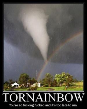 Funny photos funny tornado rainbow storm
