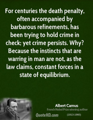 albert camus death penalty essay Reflections on the guillotine essay written in 1957 by albert camus in the essay camus takes an uncompromising position for the abolition of the death penalty.