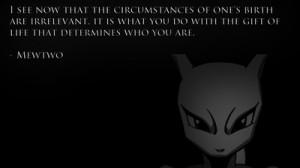 pokemon quotes mewtwo anime Wallpaper HD
