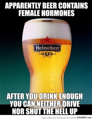 Apparently, Beer Contains Female Hormones...