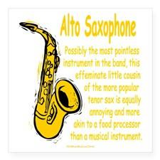 Alto Saxophone Square Sticker 3