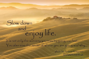 Slow Down Enjoy Life Quotes Only Scenery Miss