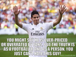 James Rodriguez is a great footballer but an even better person