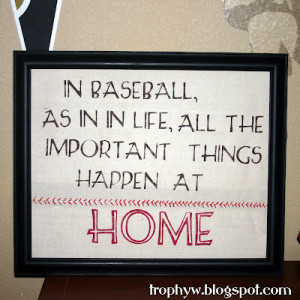 love this Baseball Art that Tales of a Trophy Wife made. It Would ...