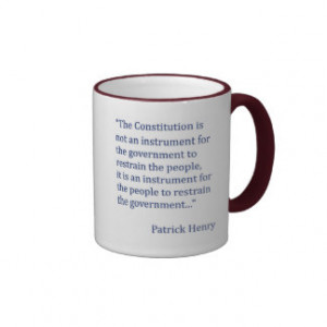 Patrick Henry Constitution Quote Coffee Mug