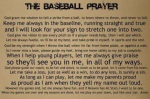 The Baseball Prayer