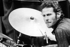 In this Nov. 27, 1976 file photo, Levon Helm, of The Band, plays drums ...