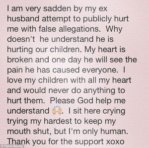 Fighting back: Tamra defended herself on Facebook, and said her heart ...
