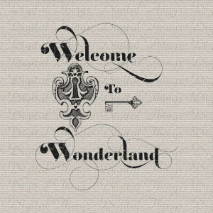 Alice In Wonderland Key and Keyhole Lewis Carroll Digital Download for ...