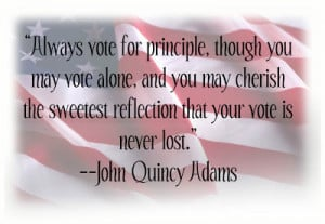 ... . One who does not vote has no right to complain.