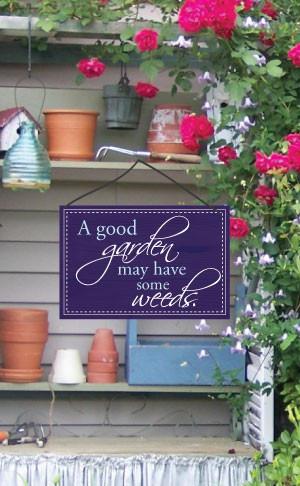 Cute Garden Sayings Wood effect garden sign with