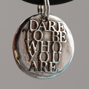 Dare To Be Who YOU are... ... Inspirational Quote Silver charm ...