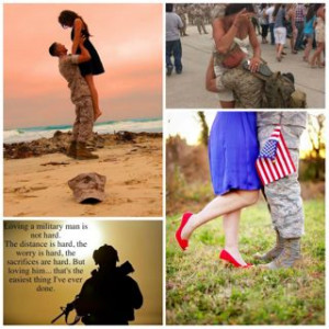 Pinterest screen grab of military love shared images