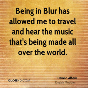 Damon Albarn Travel Quotes