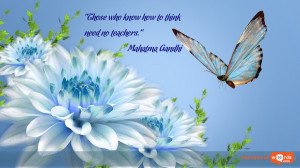 Inspirational Wallpaper Quote by Mahatma Gandhi