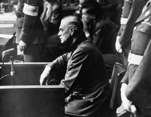 Wilhelm Keitel on the Stand at Nuremberg Trial