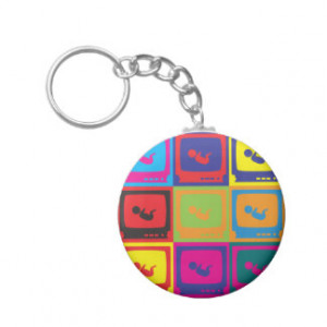 Sonograms Pop Art Keychains