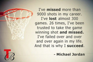Sport quote by Michael Jordan.