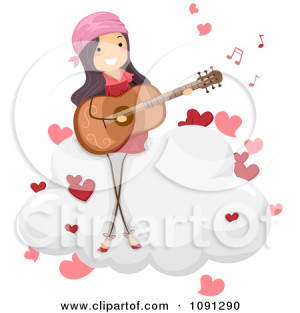 Little Girl Playing Guitar Clipart Girl singing a love song and