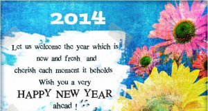 Happy New Year 2014 Wishes Spacial Quotes Best Messages in English