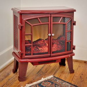 Duraflame 950 Cranberry Electric Fireplace Stove with Remote Control