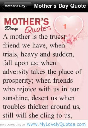 Mother Quotes And Sayings