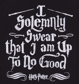 ... Official Ladies Harry Potter I Solemnly Swear Mischief Managed Vest