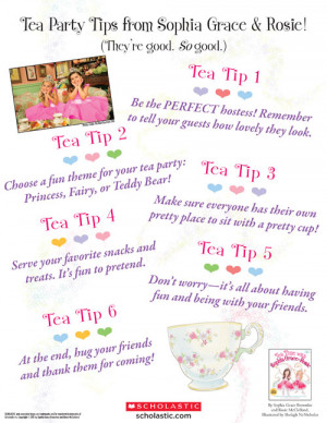 Tea Time With Sophia Grace and Rosie is available now at book ...