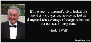 job to look at the world as it changes, and how do we look at change ...
