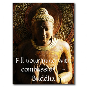 Fill your mind with compassion. - Buddha - QUOTE Postcard