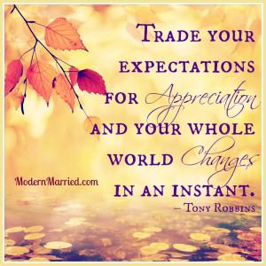 expectations, appreciation, gratitude, thanksgiving anthony robbins